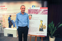 Prof. Ian Holliday photo with Poster