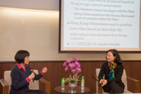 Dr. Louisa Wei moderate the talk