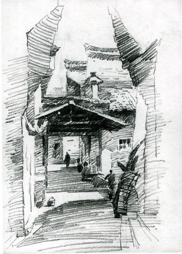 5y2i5asc5zu 6zug_风景素描画铅笔画_简单铅笔风景素描画_铅笔淡彩画