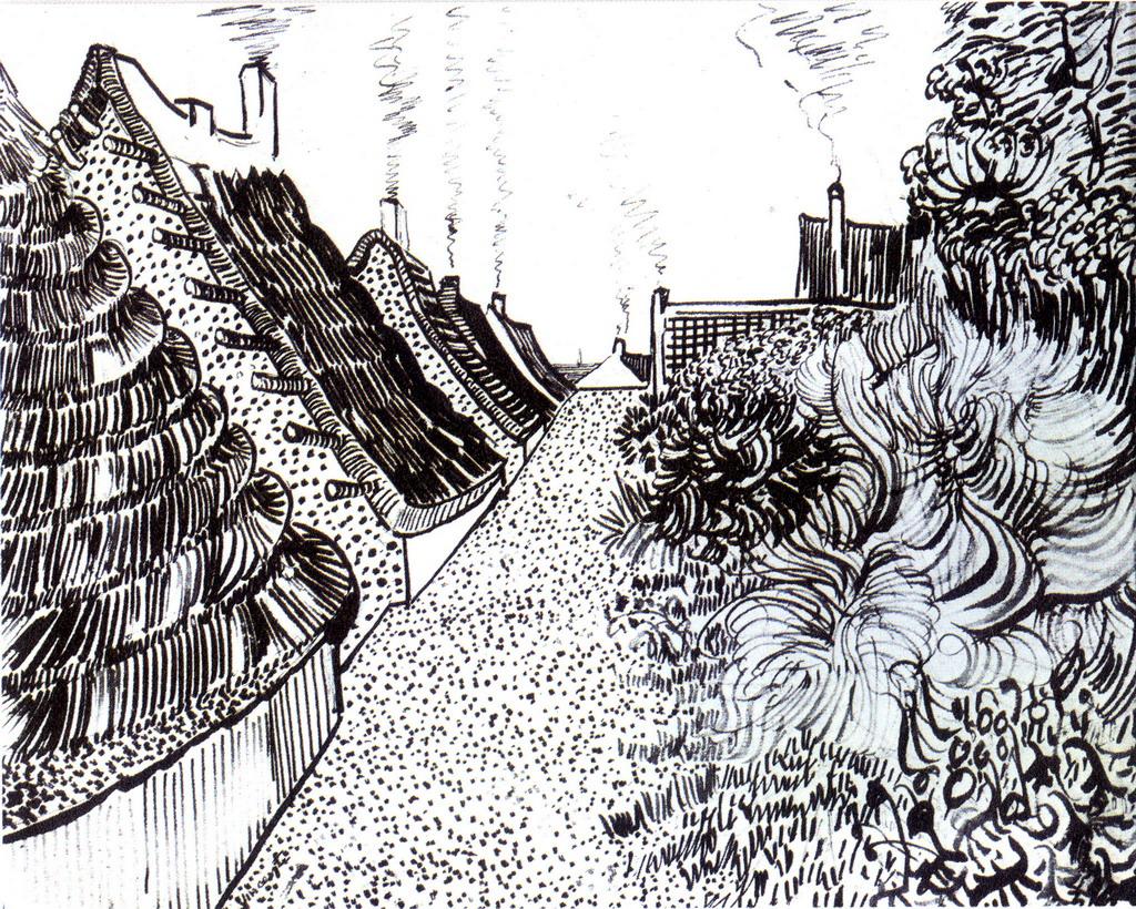 认识建筑风景铅笔素描图片