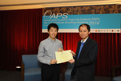 The OAPS Certificate Awarding Ceremony - Present Certificate to EF Student, CHAN Chi Hon