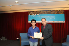 The OAPS Certificate Awarding Ceremony - Present Certificate to AIS, CHUN Wai Pang Stephen