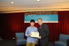 The OAPS Certificate Awarding Ceremony - Present Certificate to AIS, YANG Chun Wai