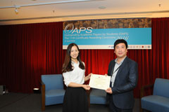 The OAPS Certificate Awarding Ceremony - Present Certificate to ACE Student, HE Yiming