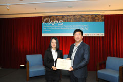 The OAPS Certificate Awarding Ceremony - Present Certificate to ACE Student, LIU Yushan