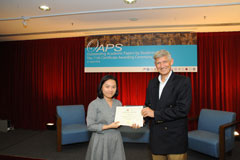 The OAPS Certificate Awarding Ceremony - Present Certificate to LT Student, WONG Cheuk Kin