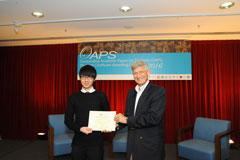 The OAPS Certificate Awarding Ceremony - Present Certificate to COM Student, GONG Wanqi