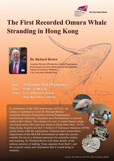 Poster of The First Recorded Omura Whale Stranding in Hong Kong