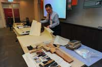 Training and demonstration on the preservation of paper documents