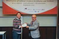 Mr. Chijo Onishi  Present Certificate to Ms. HUANG Jing