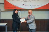 Mr. Chijo Onishi  Present Certificate to Ms. CHENG Rentao
