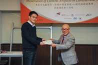 Mr. Chijo Onishi  Present Certificate to Mr. WANG Xiaoshan