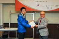 Mr. Chijo Onishi  Present Certificate to Mr. LIU Congming