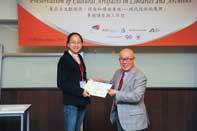 Mr. Chijo Onishi  Present Certificate to Ms. ZHANG Hao