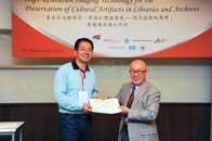 Mr. Chijo Onishi  Present Certificate to Mr. YE Jian