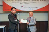 Mr. Chijo Onishi  Present Certificate to Mr. HAN Yu