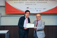 Mr. Chijo Onishi  Present Certificate to Mr. Jeff Liu