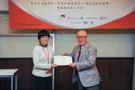 Mr. Chijo Onishi  Present Certificate to Ms. Irene Wong