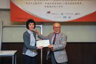 Mr. Chijo Onishi  Present Certificate to Ms. Sheila Cheung